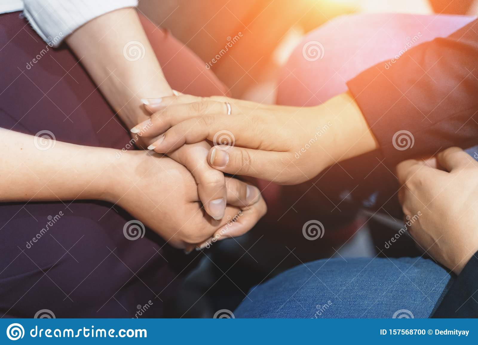 Psychologist Session, Close Up On Hands Of Doctor And ...