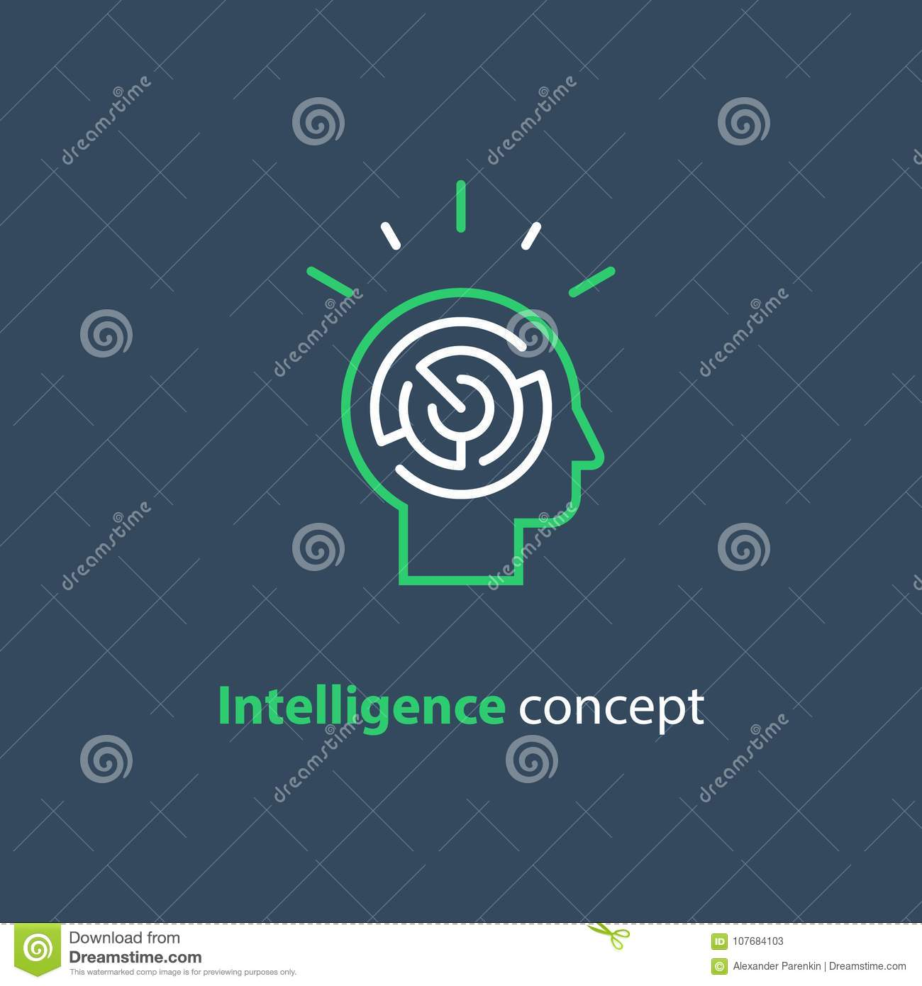 Psychology concept logo strategy game icon emotional intelligence download comp ccuart Images
