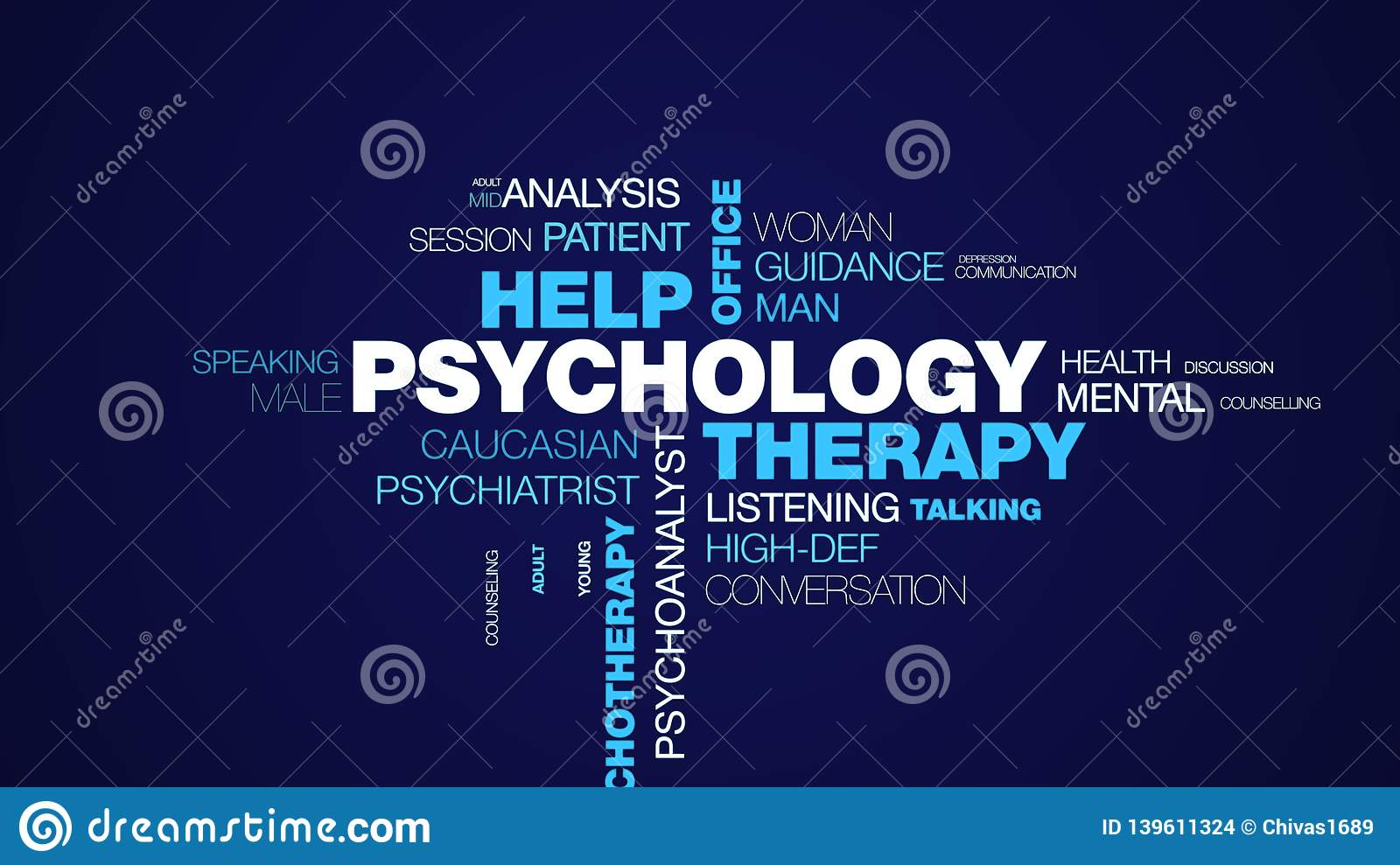 Psychology therapy help office psychologist psychiatry female therapist advice psychotherapy professional animated word