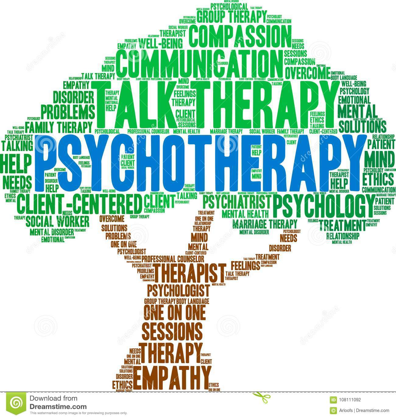 Psychotherapy Word Cloud stock vector  Illustration of