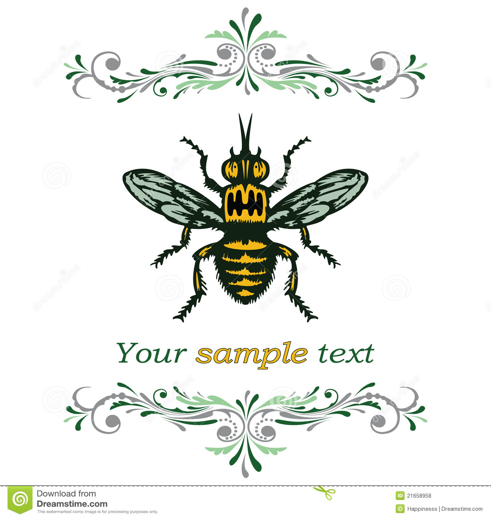 Pszczoła Miód Ilustracja Wektor Ilustracja Złożonej Z