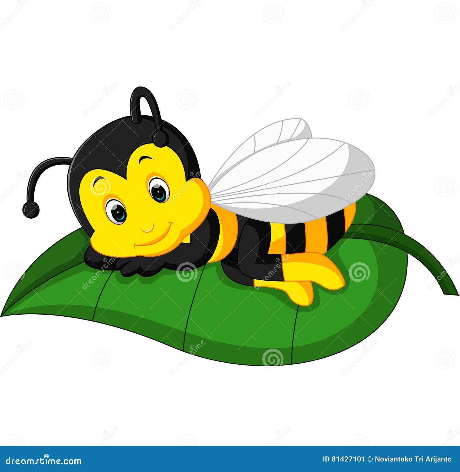 Pszczoły śliczna kreskówka