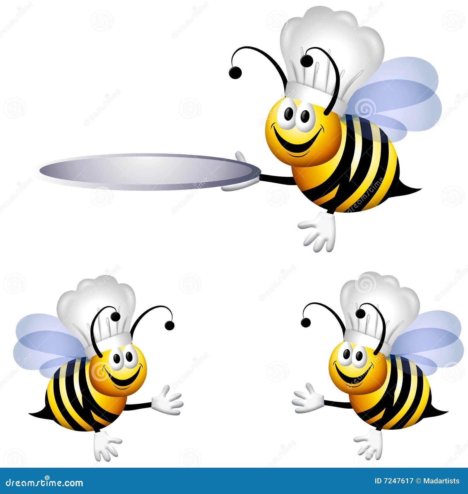 Pszczoły kreskówki szef kuchni