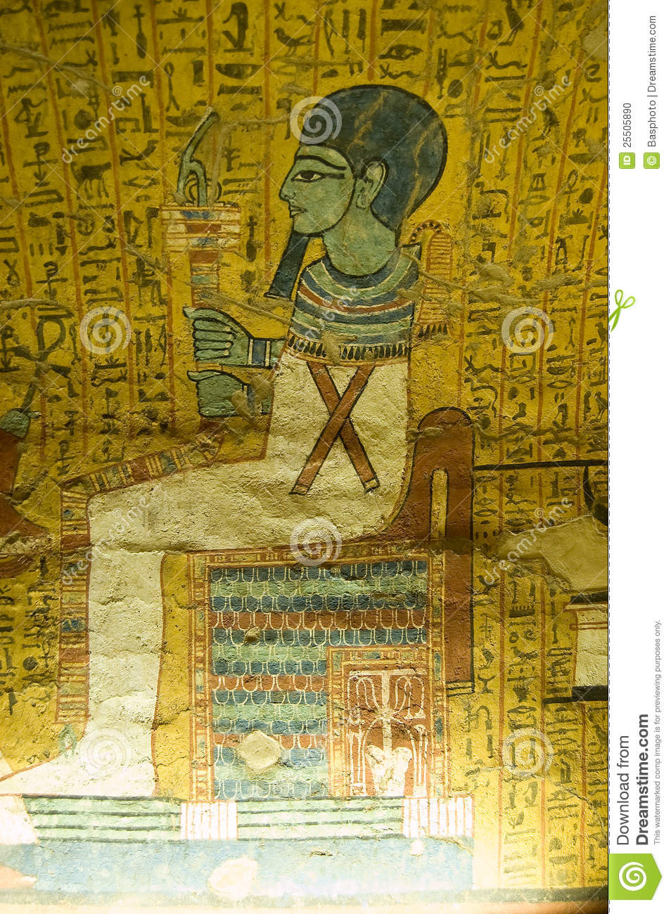 Ptah, Ancient Egyptian God stock photo. Image of craftsman - 25505890