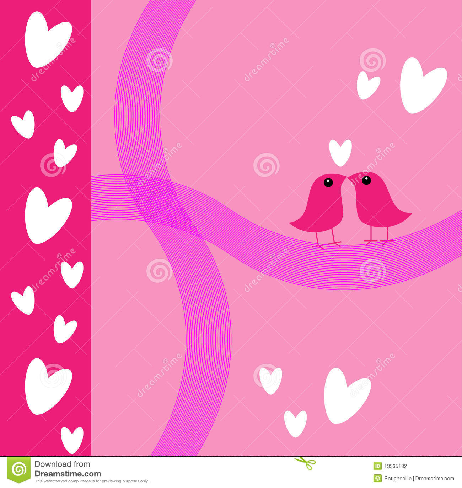 Ptaków karty miłości menchii s valentine