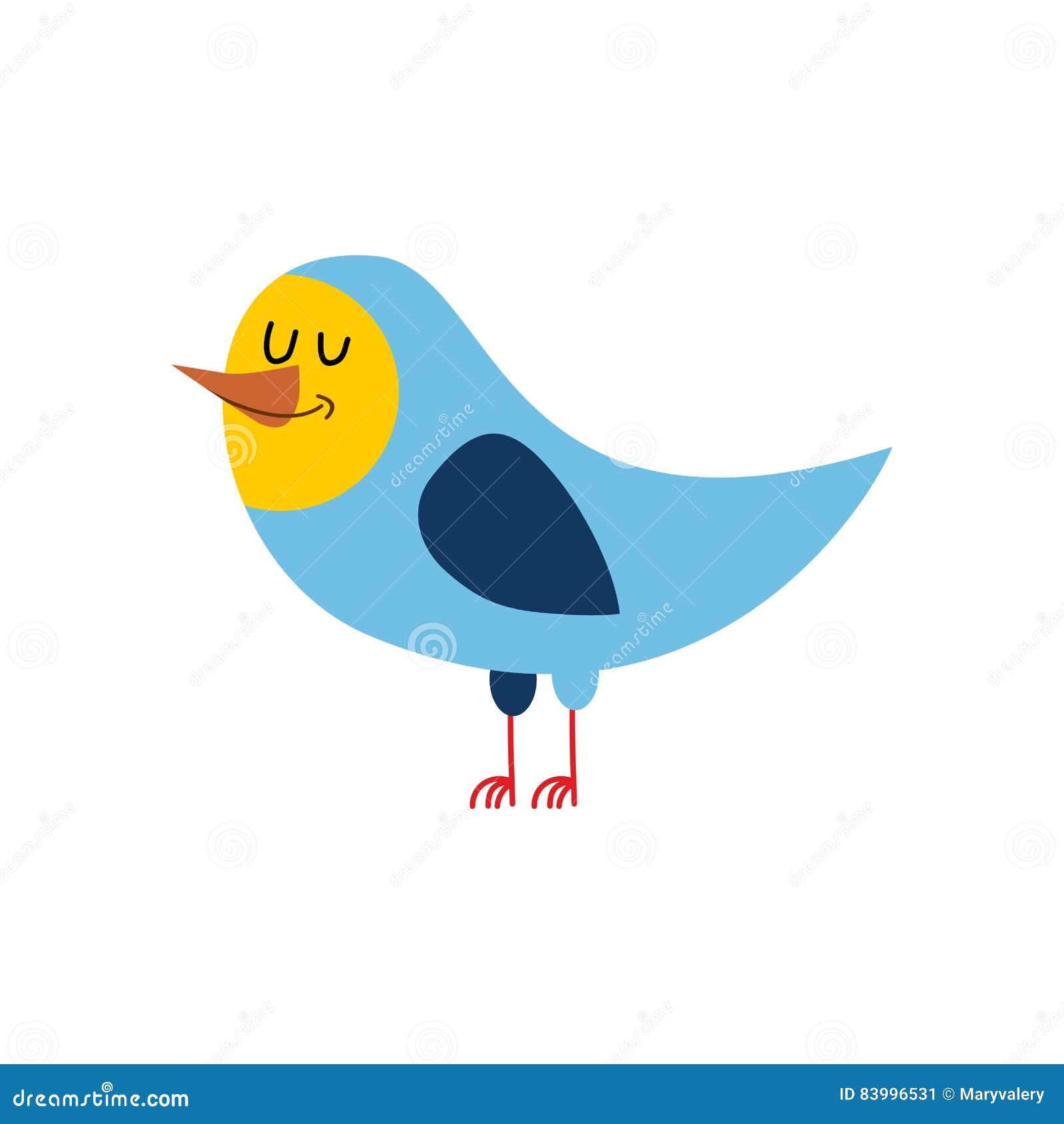 Ptak Odizolowywający Rozochocony śpiewacki ptactwo na białym tle