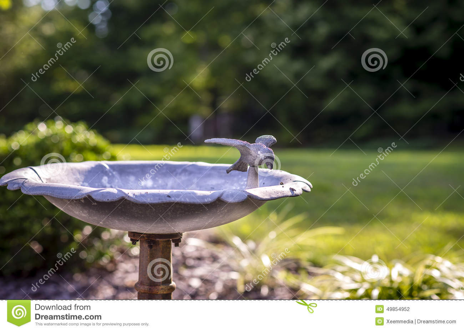Ptasia wodna fontanna zdj cie stock obraz 49854952 - Fuente para pajaros ...