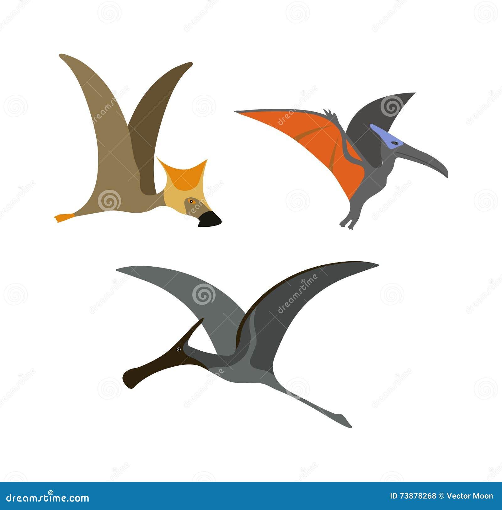 Pterodaktyla dinosaura wektoru ilustracja