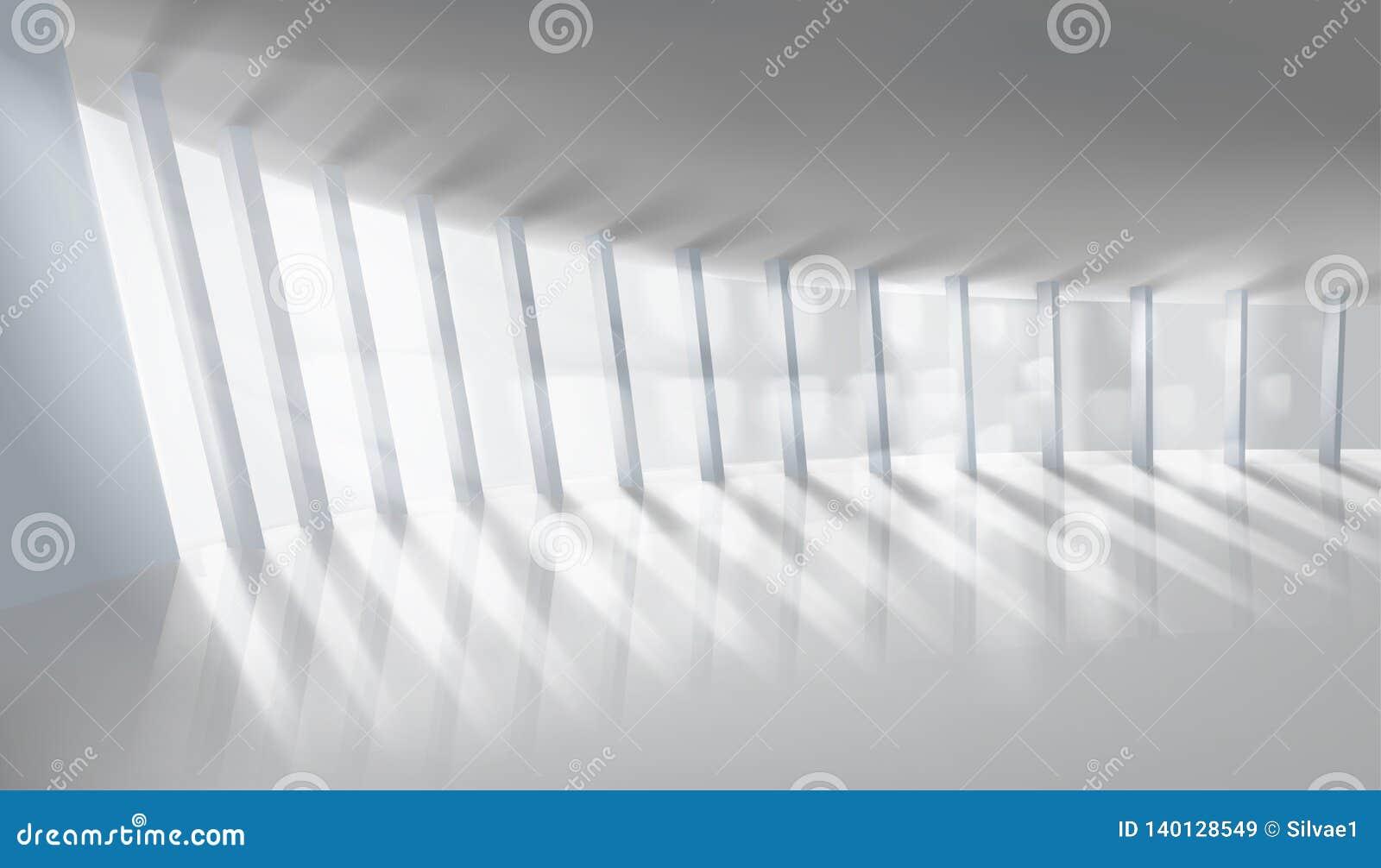 Puści wielcy izbowi okno również zwrócić corel ilustracji wektora