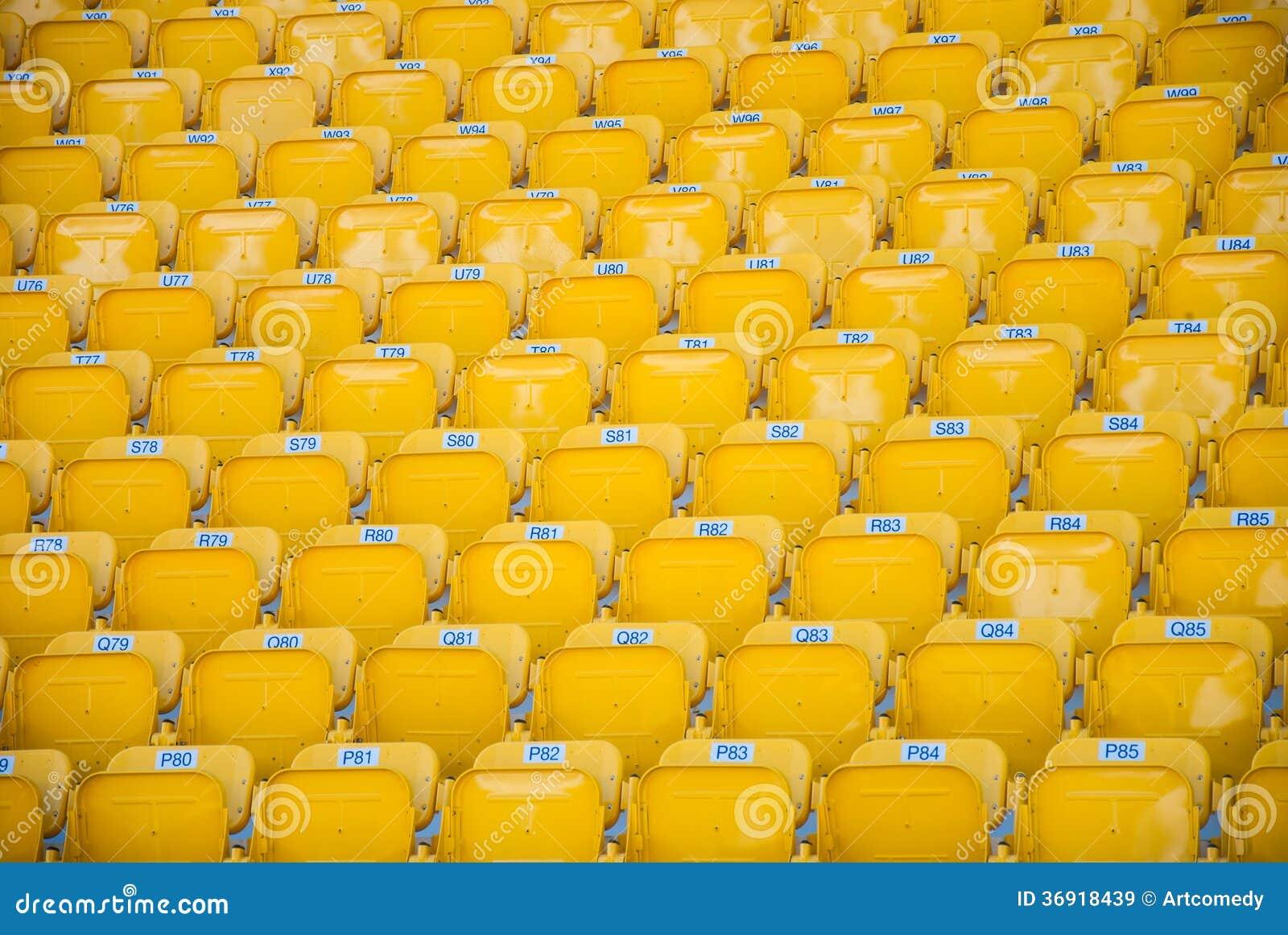 Puści, żółci stadiów siedzenia,