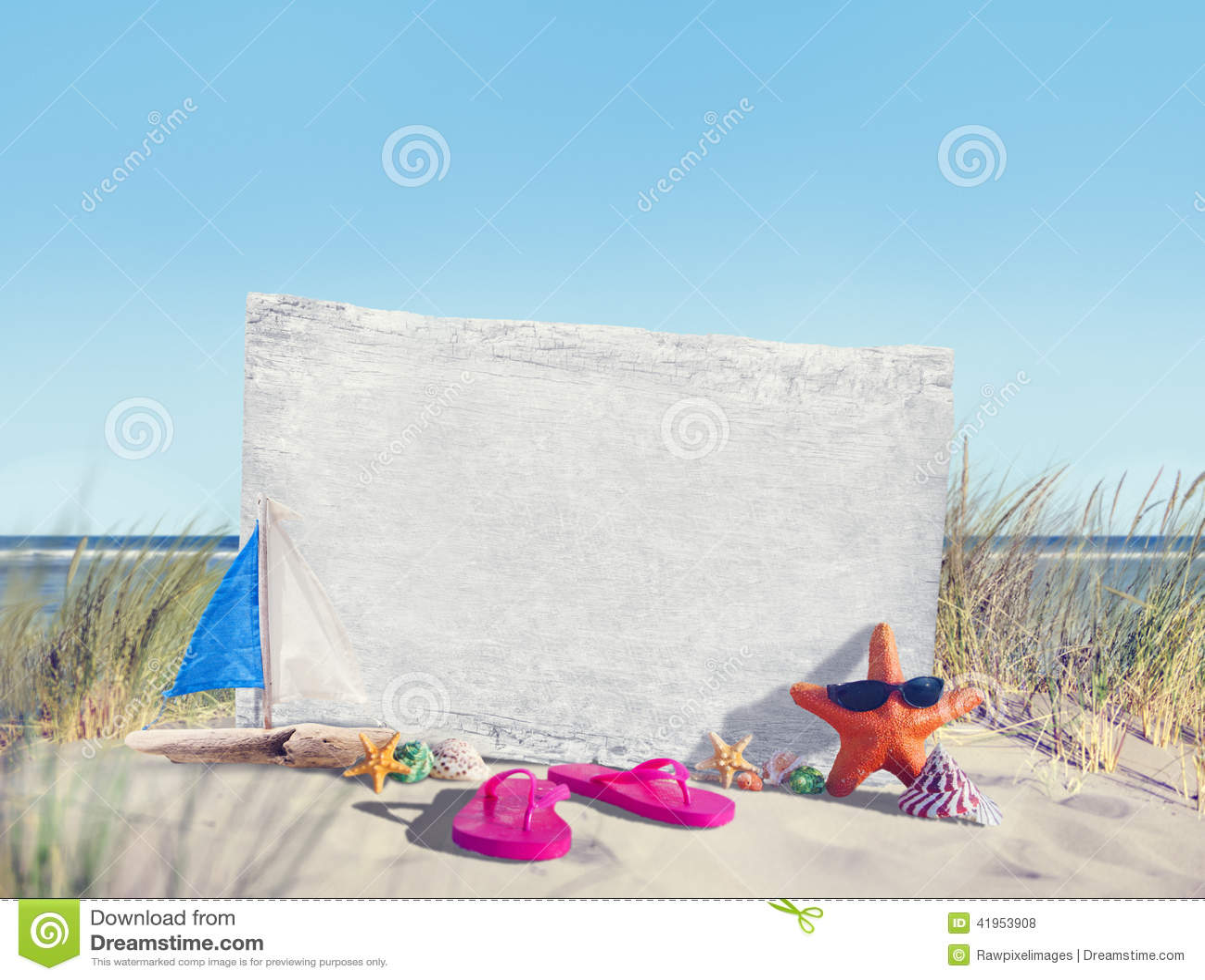 Puści Signboard i lata wsparcia na plaży