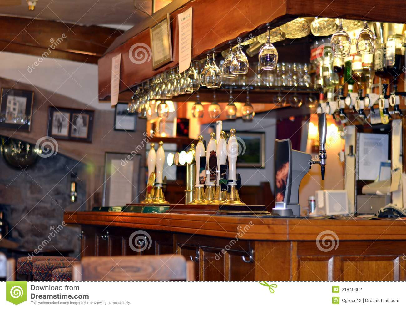 Pub Bar Stock Photography Image 21849602