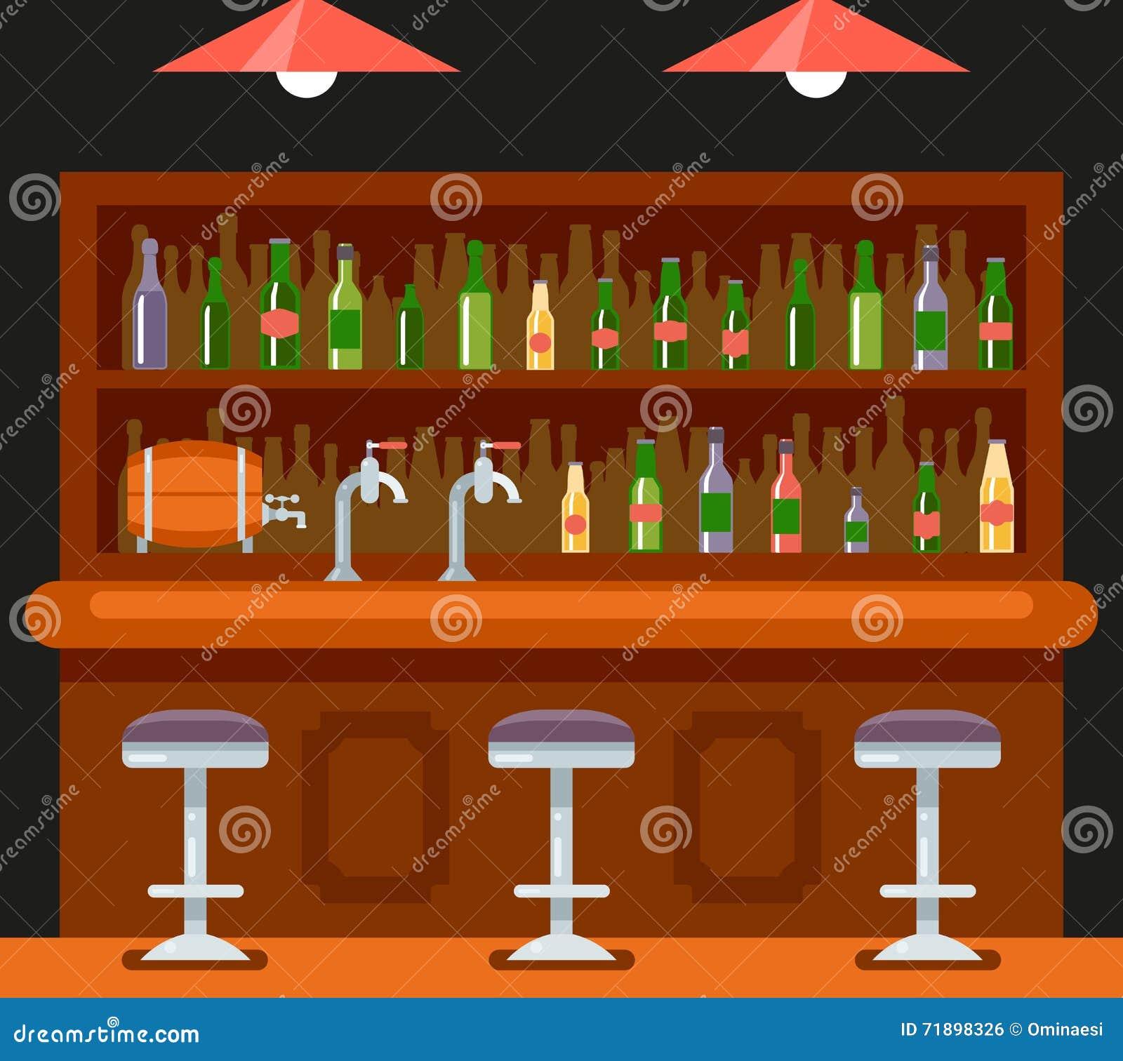 Pub Bar Restaurant Cafe Symbol Alcohol Beer House Interior Icon ...