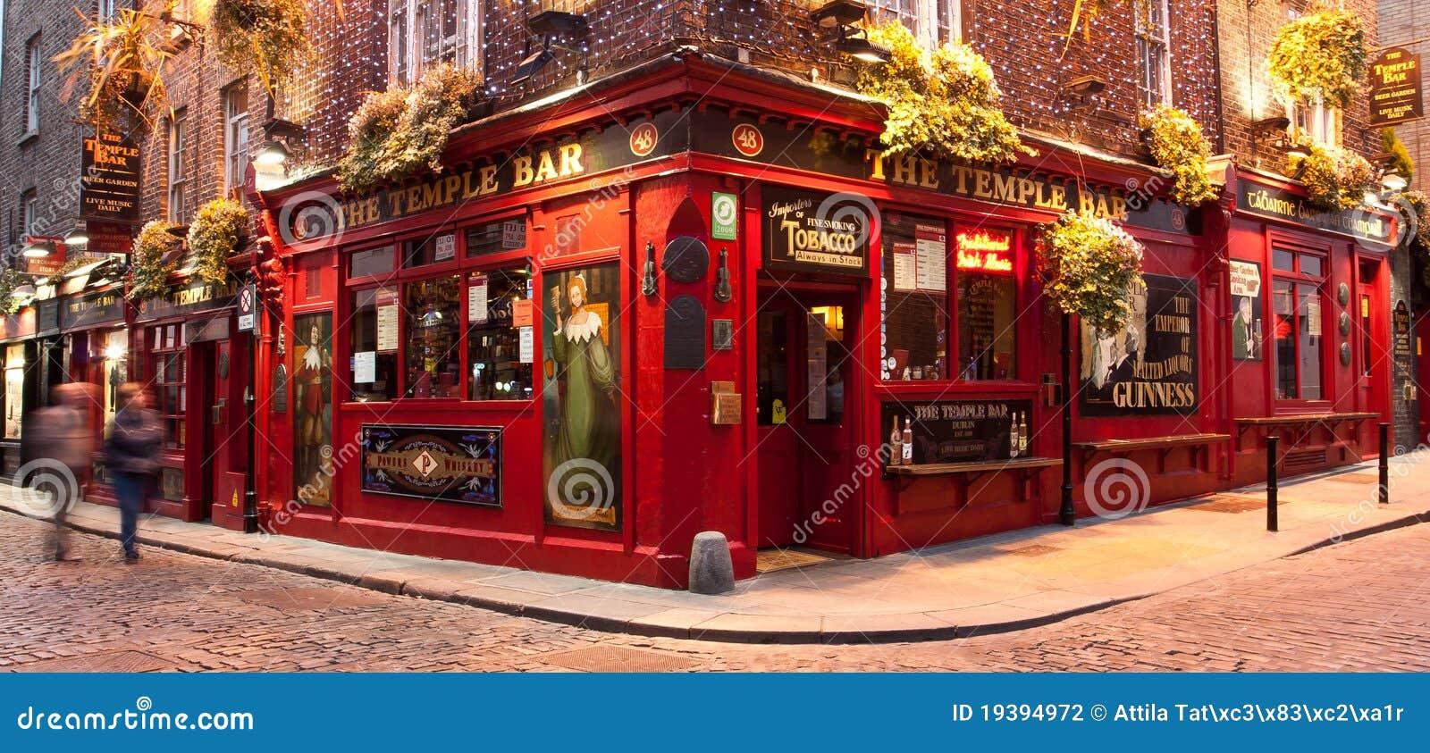 Pub Dublin de bar de temple