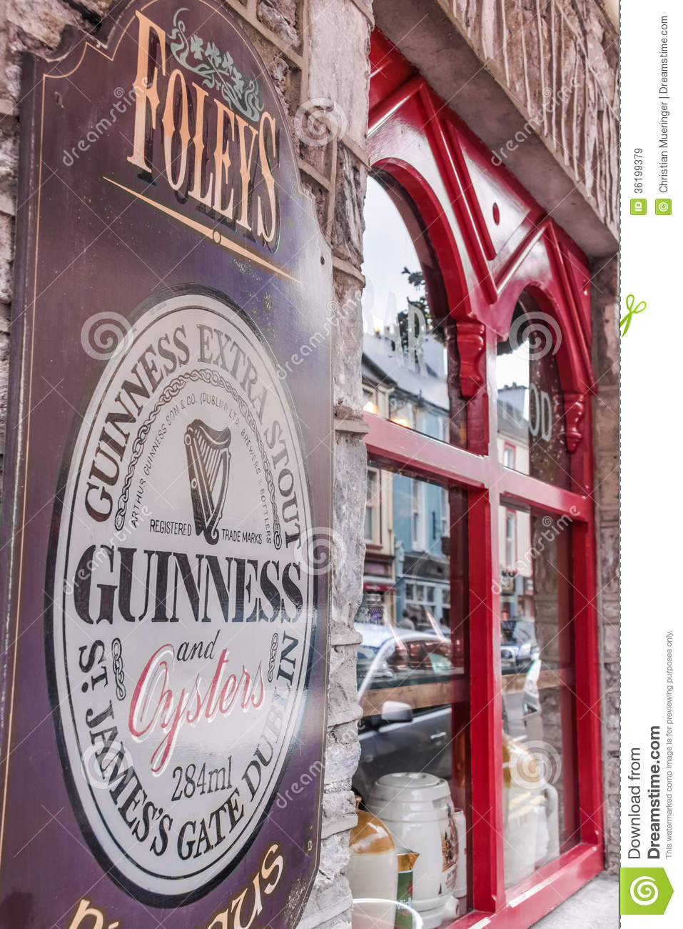 Pub in Kenmare with Guinness sign