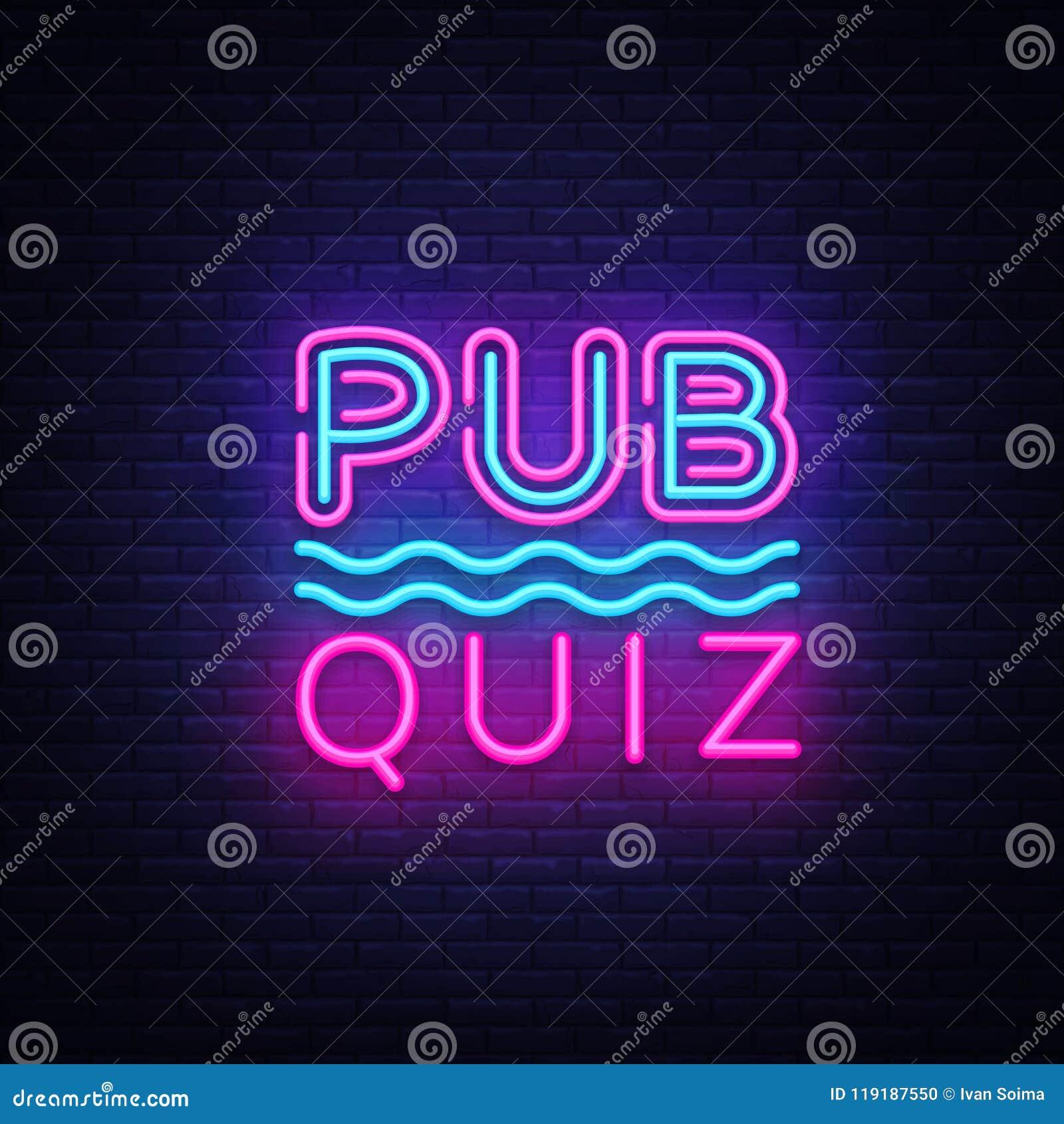Pub Quiz Night Announcement Poster Vector Design Template. Quiz ...