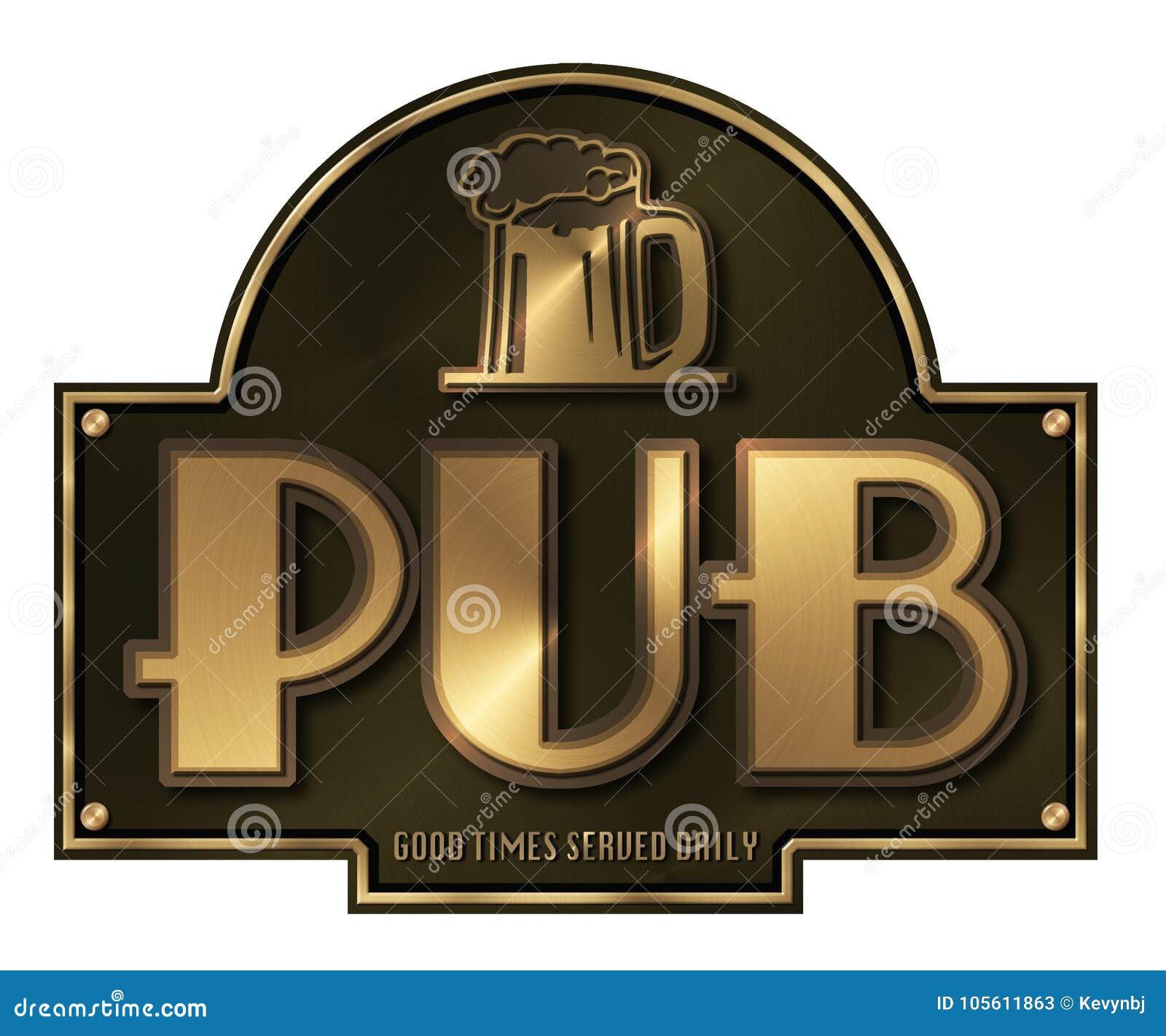 Pub sign Brass Plaque
