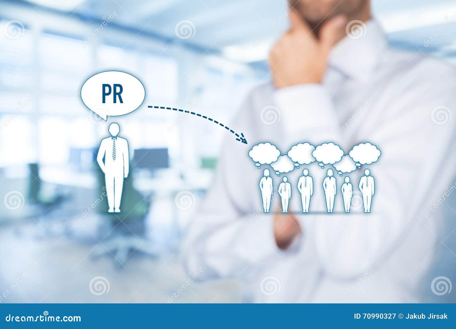 Pubbliche Relazioni Pr Immagine Stock  Immagine Di Uomo