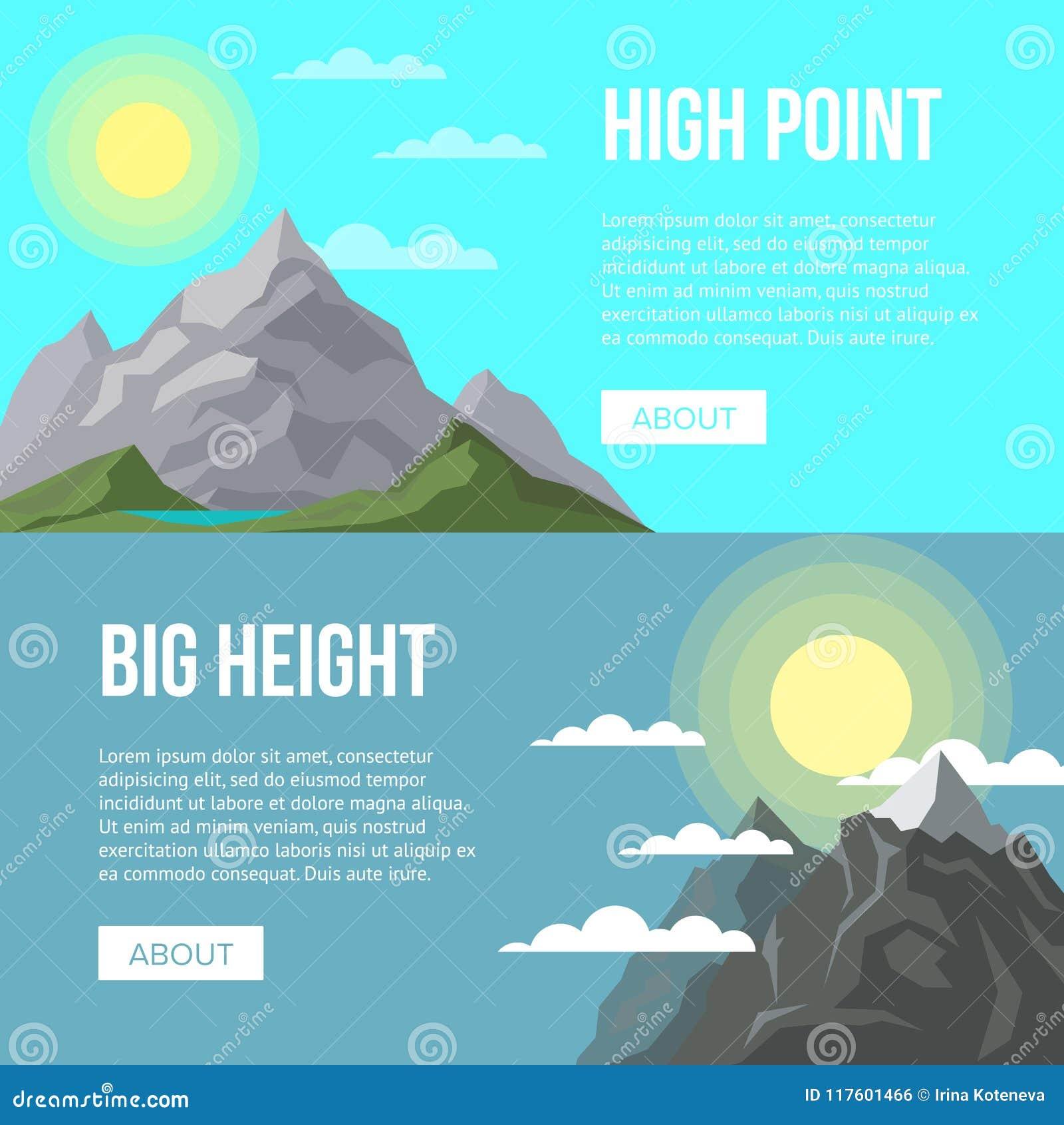 Pubblicità di attività di alpinismo con i picchi