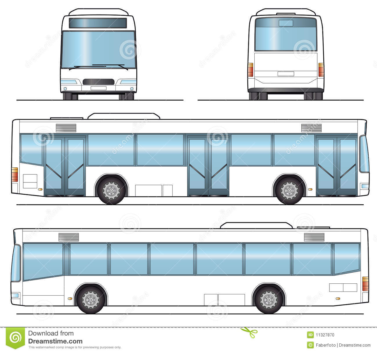 Public Bus Template stock vector. Illustration of motor ...