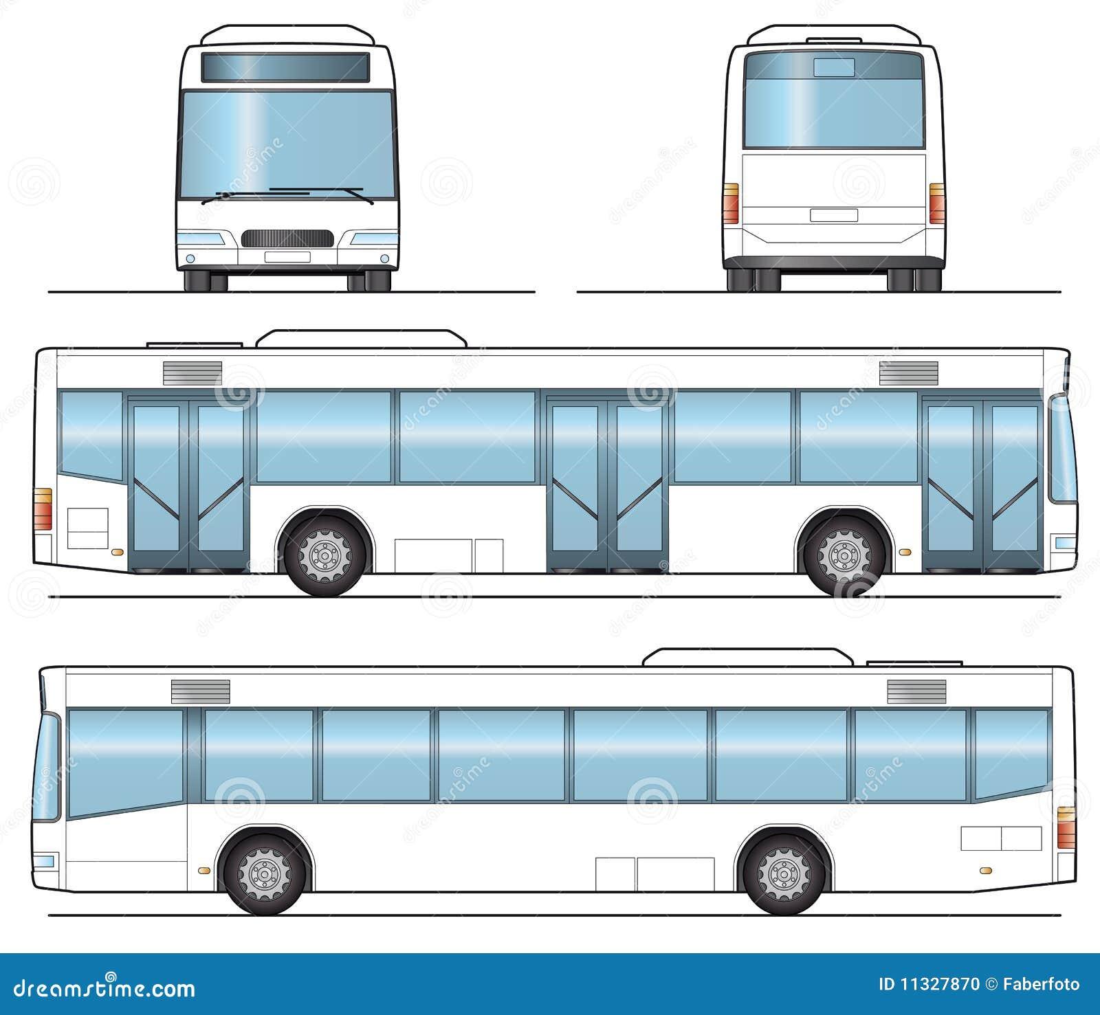 public bus template stock photo image 11327870. Black Bedroom Furniture Sets. Home Design Ideas