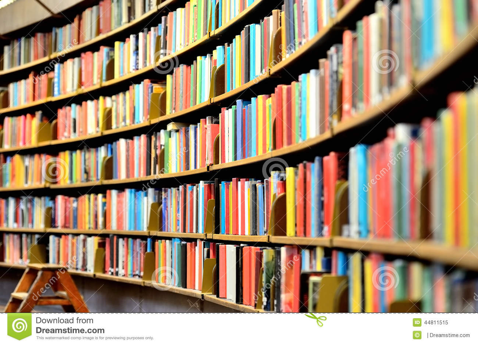 Public library bookshelf Round bookshelf in public