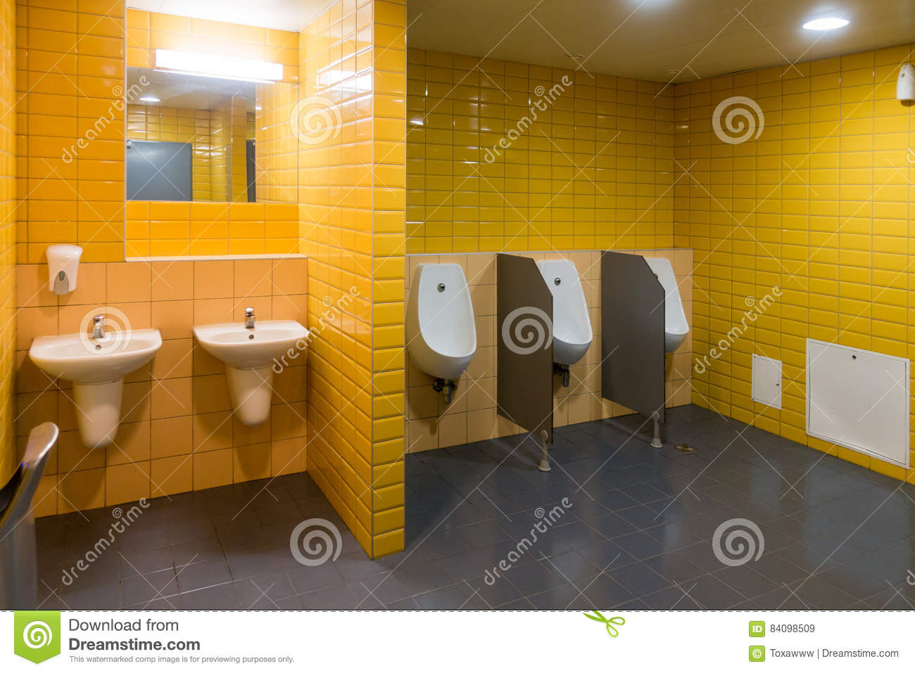 Public Modern Wc Men`s Room Stock Image - Image of water, lavatory ...