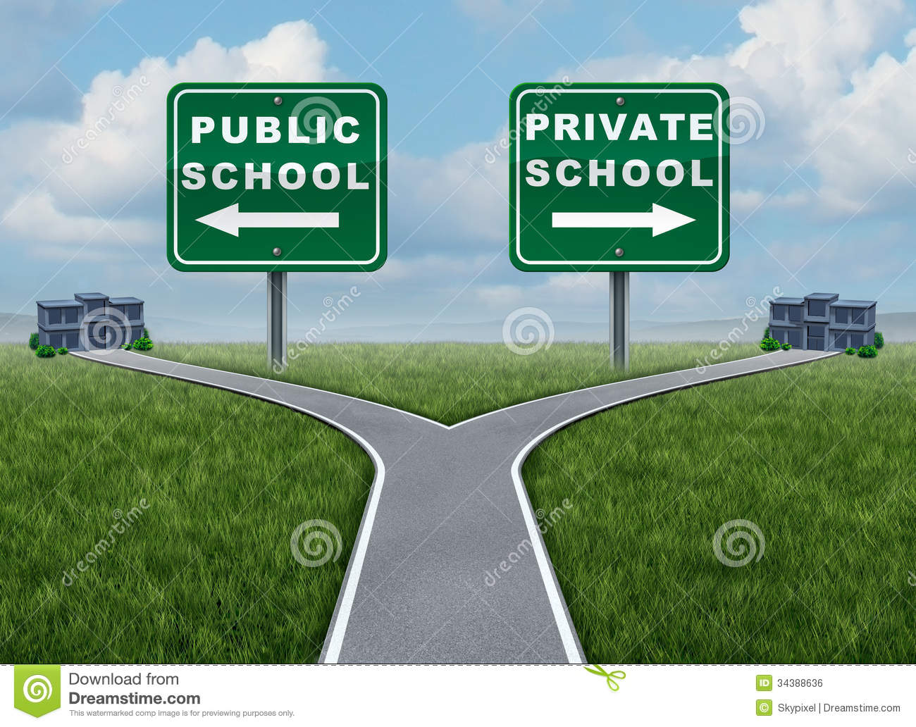 Public And Private School Choice Royalty Free Stock Image - Image ...