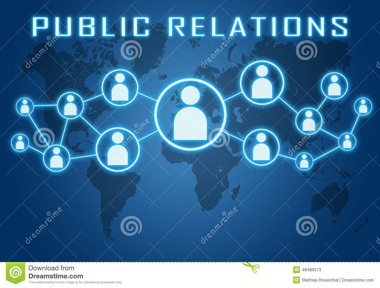 Public relations stock illustration image 46489573 for Relation sociale