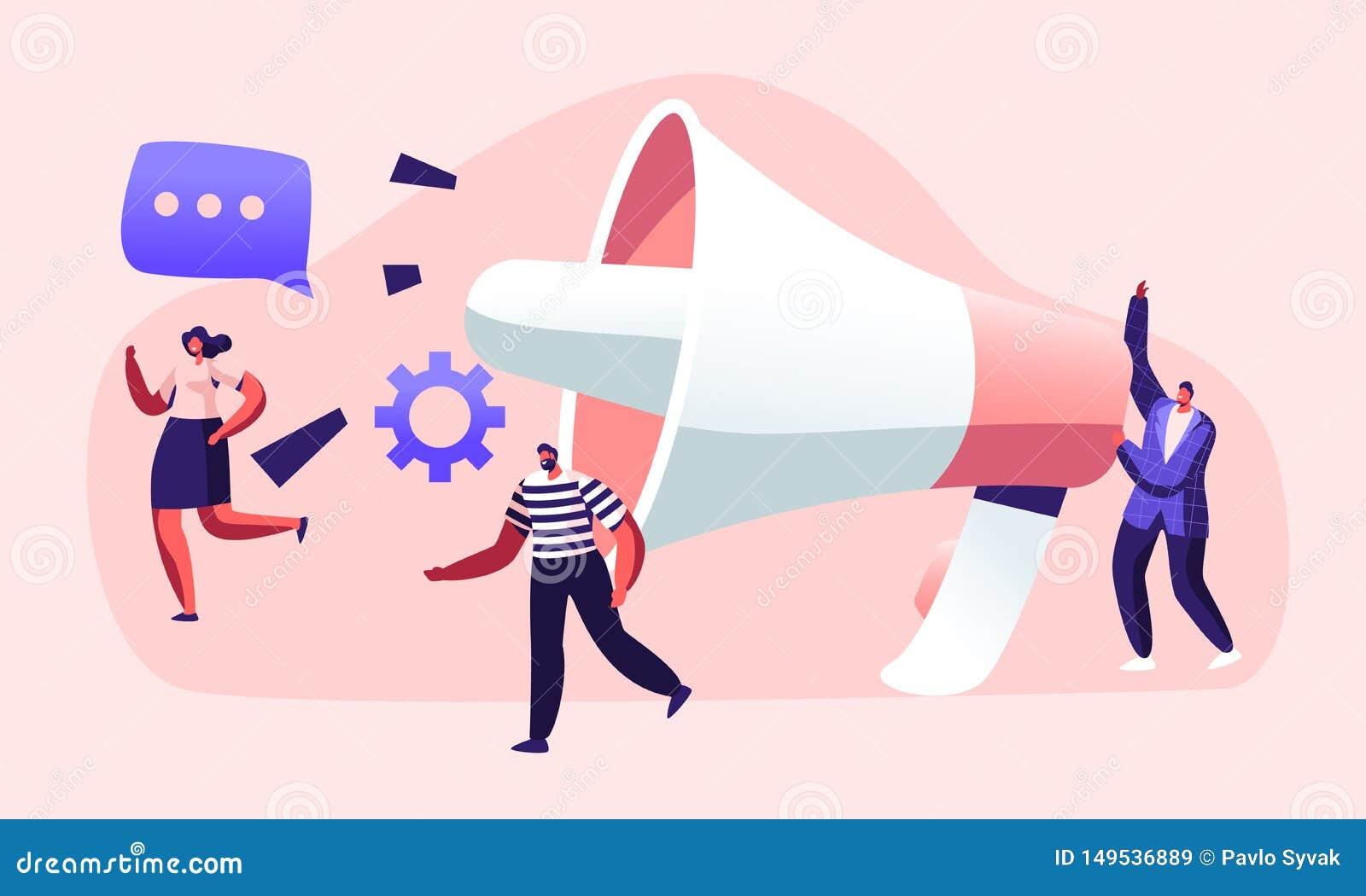 Public relations en Zaken, Mededeling die, PR-Agentschap Team Work die met Reusachtige Megafoon, Alarm op de markt brengen, Propa