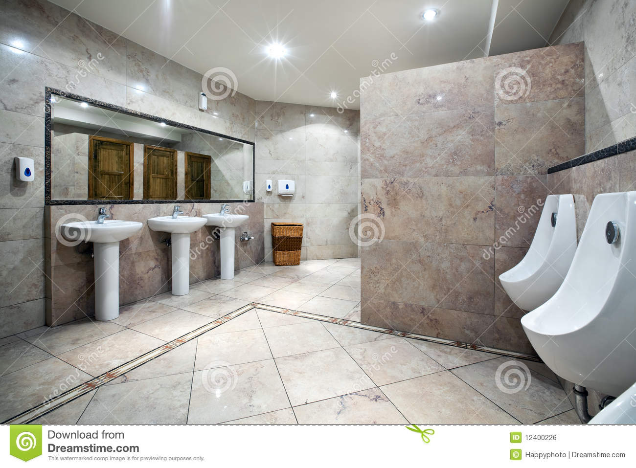 Public Restroom Interior Royalty Free Stock Image Image