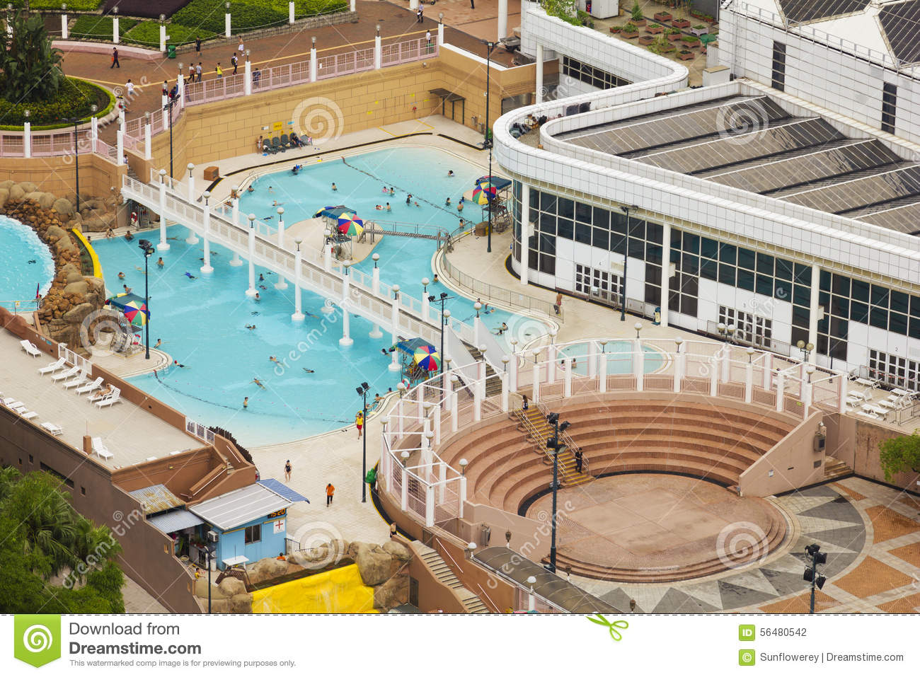 Public Swimming Pool In Hong Kong Editorial Photography Image 56480542