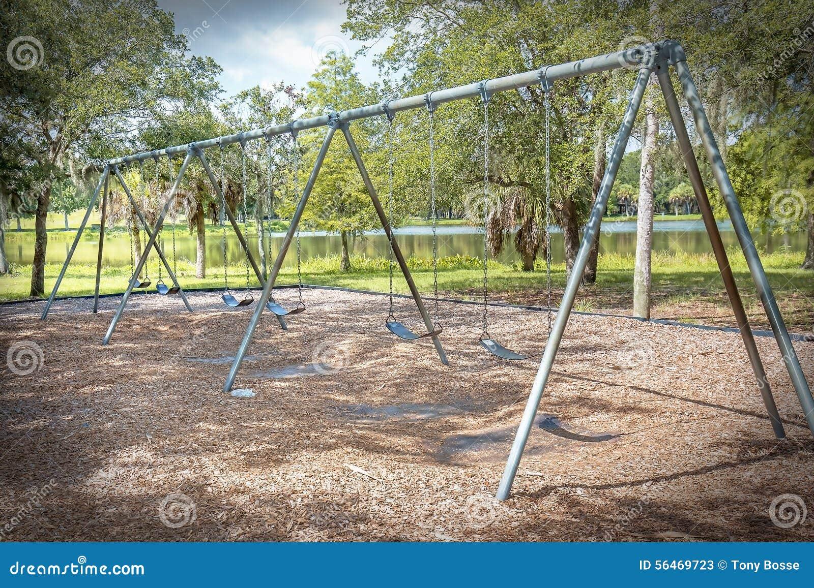Public Swing Set Stock Photo Image 56469723