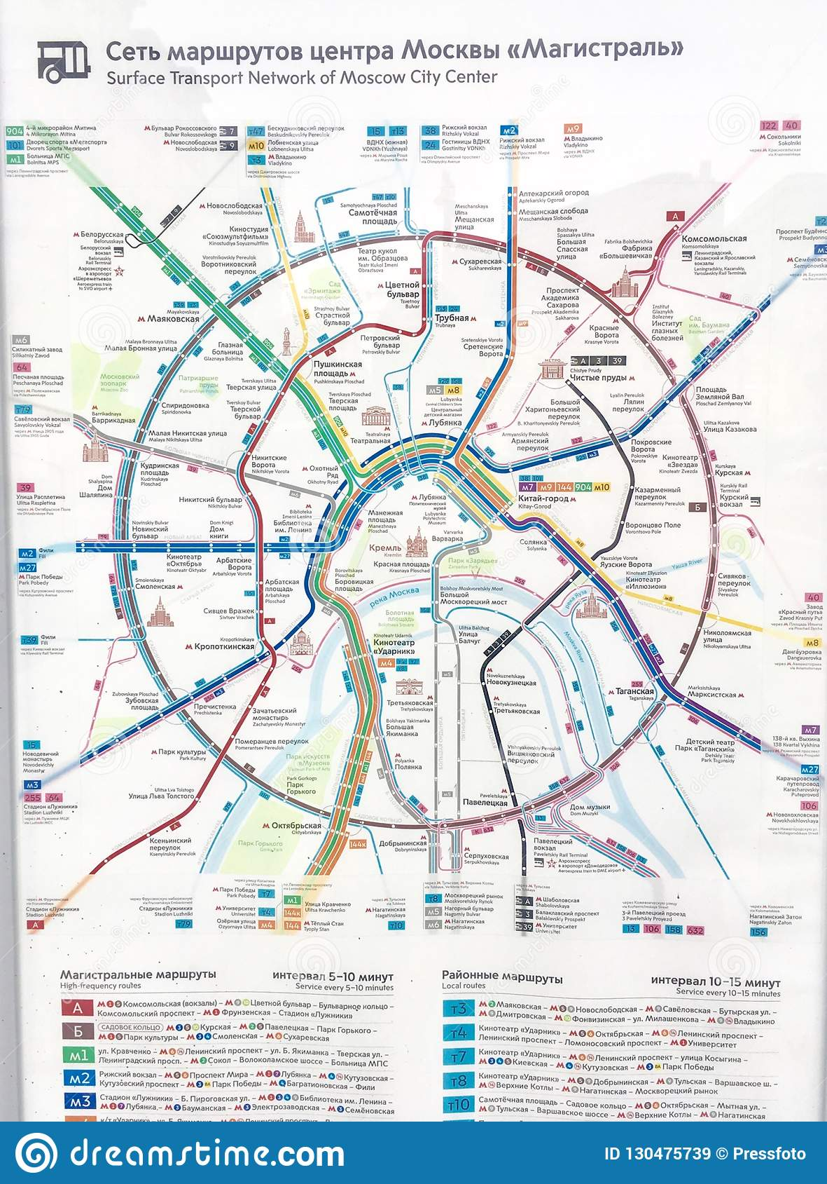 Transport map in Moscow editorial stock image. Illustration ...