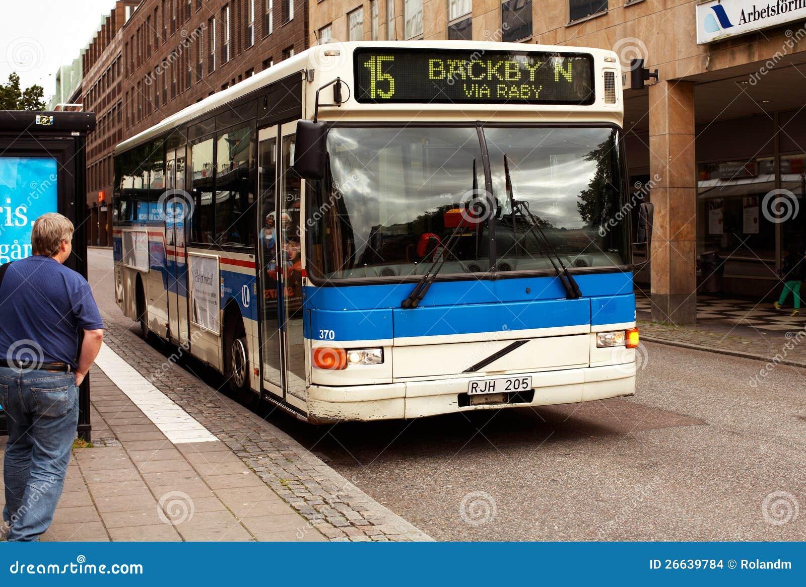 Public Transport, Vasteras, Sweden Editorial Stock Image - Image of