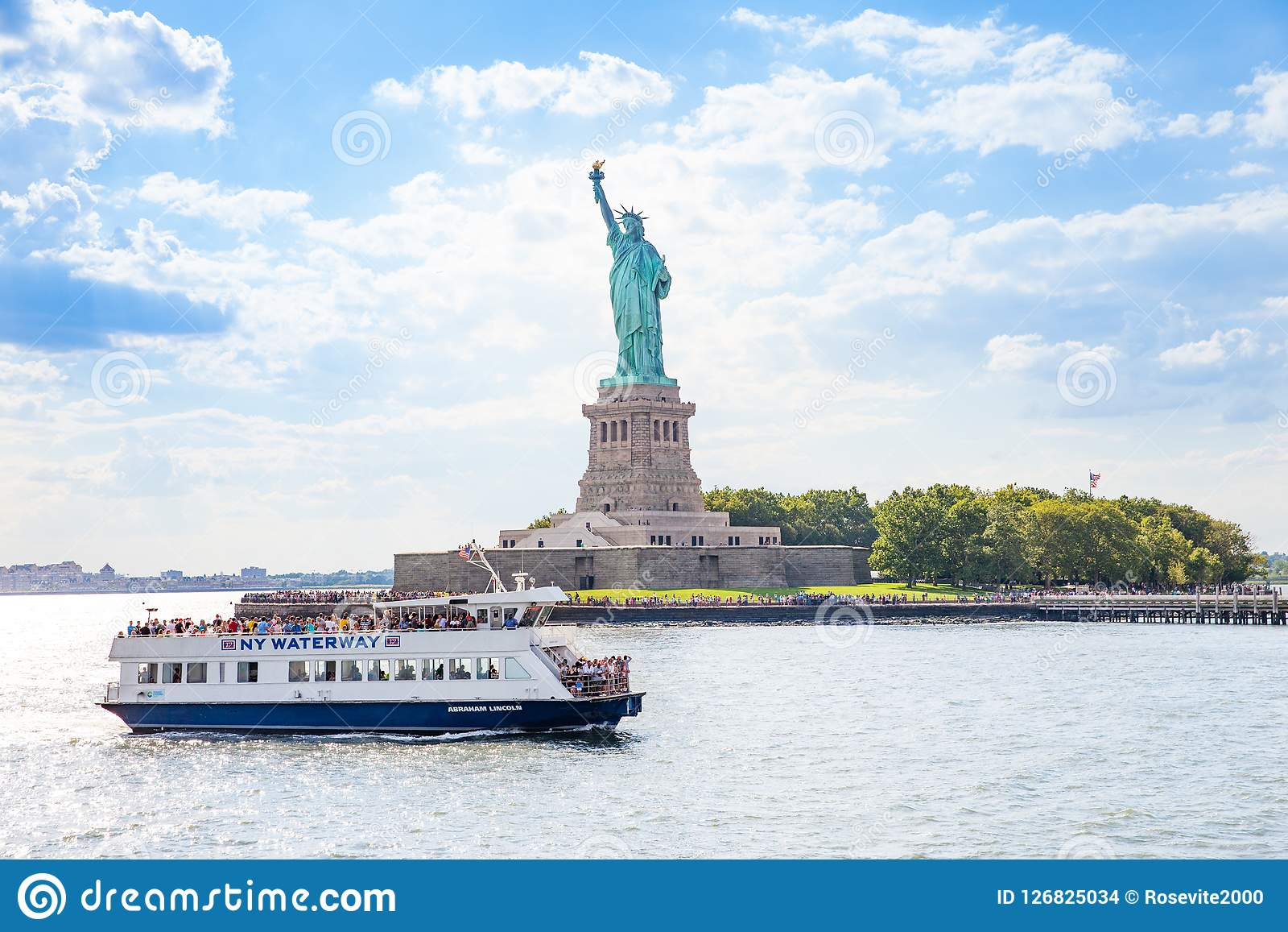 Ferry Boat That Takes Passenger To The Statue Of Liberty