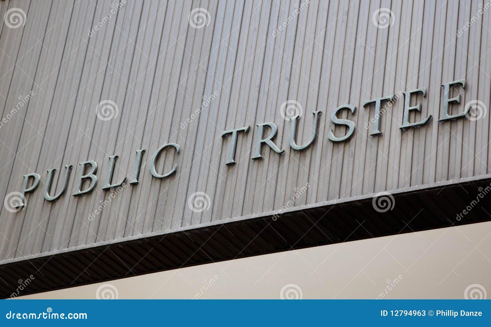 Public Trustee Building Sign