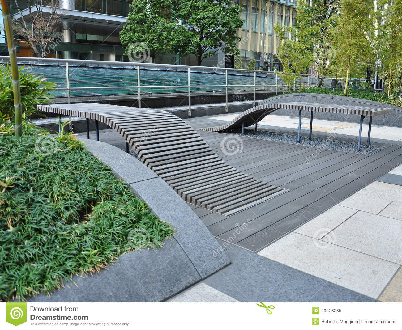 Public Urban Space Design In Central Tokyo, Japan Stock Photo - Image ...