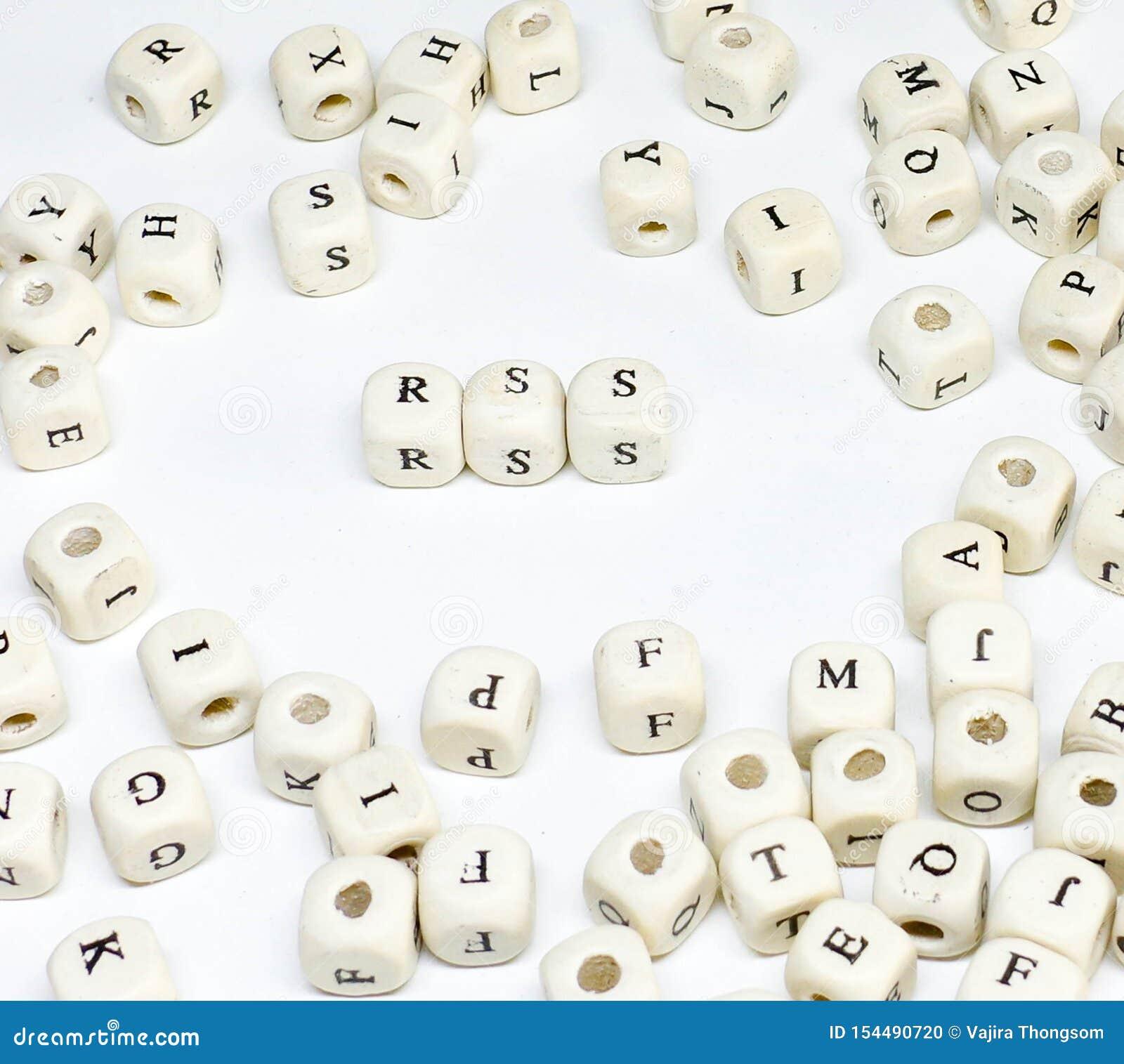 Publicidade online publicando em blogs do e-mail do comércio eletrónico e rss de madeira sociais do ABC do termo de mercado dos m