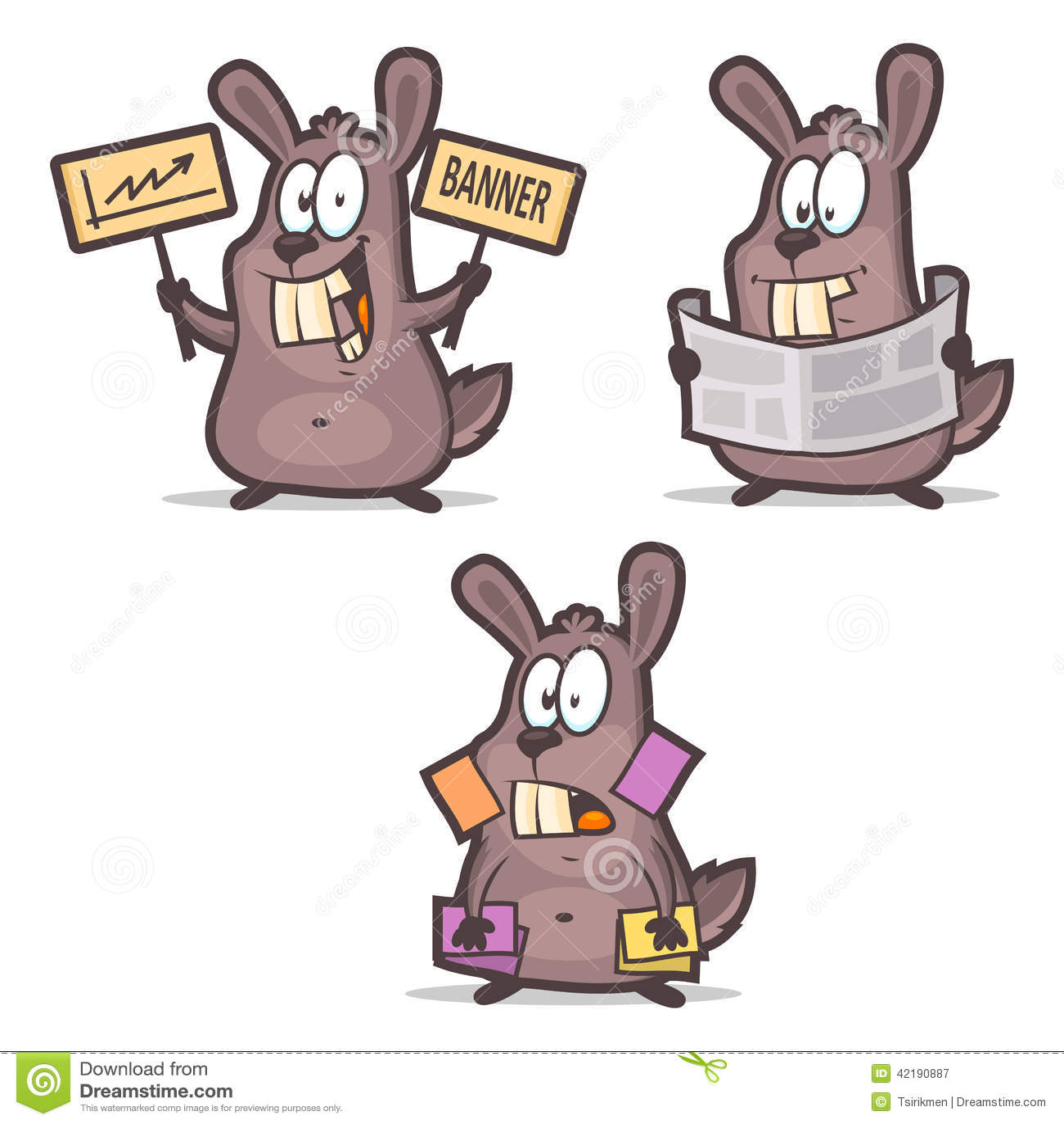 Download Publicit De Journal Cartes Visite Professionnelle Lapin Illustration Vecteur