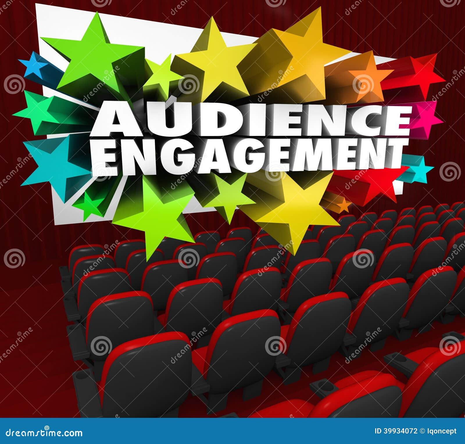 Publikums-Verpflichtungs-Film-Theater unterhalten Mengen-Teilnahme