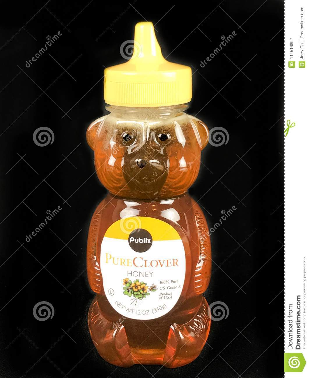 Publix Brand Pure Clover Honey Editorial Photography - Image