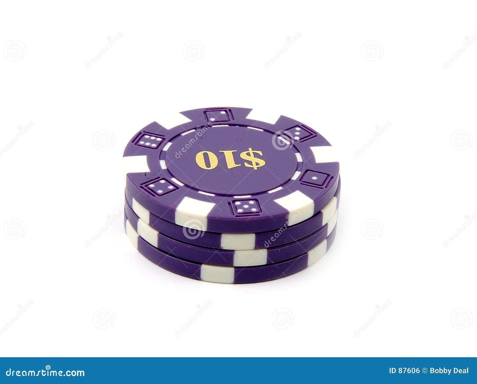 Puces $10. de casino.