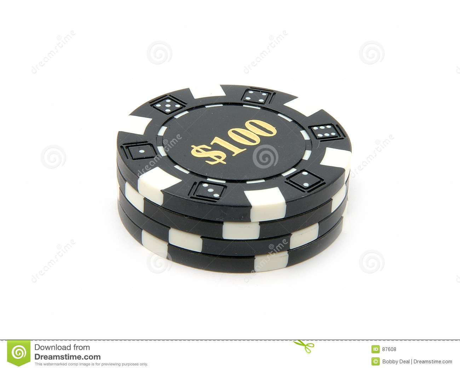 Puces $100 de casino.