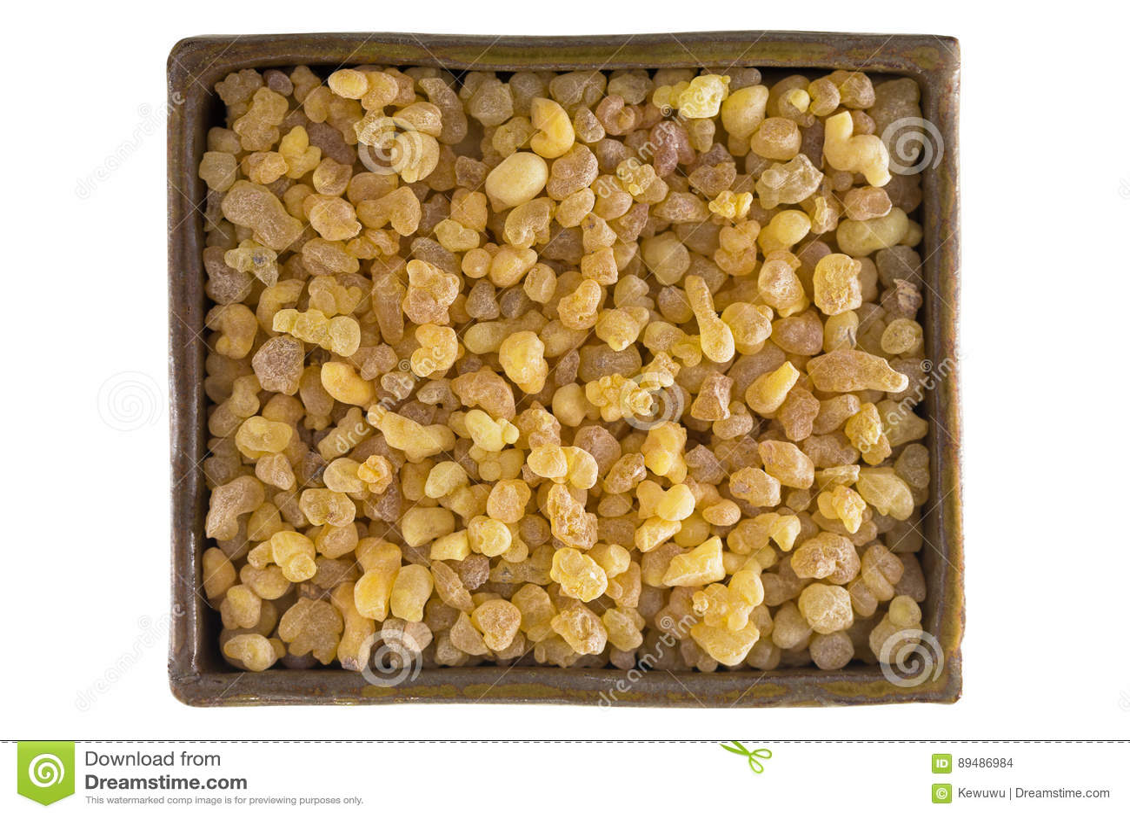Puchar aromatyczny żółty żywicy dziąsło od Sudańskiego Frankincense tre
