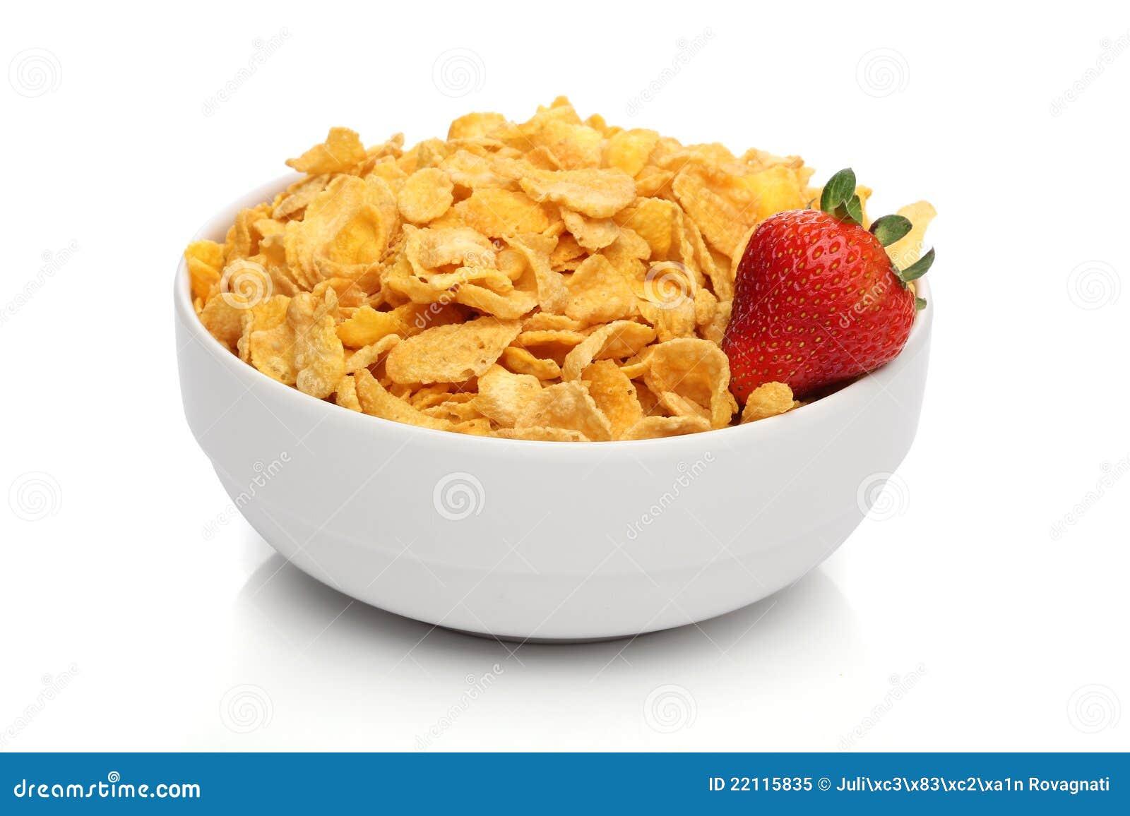 Pucharu cornflakes stos