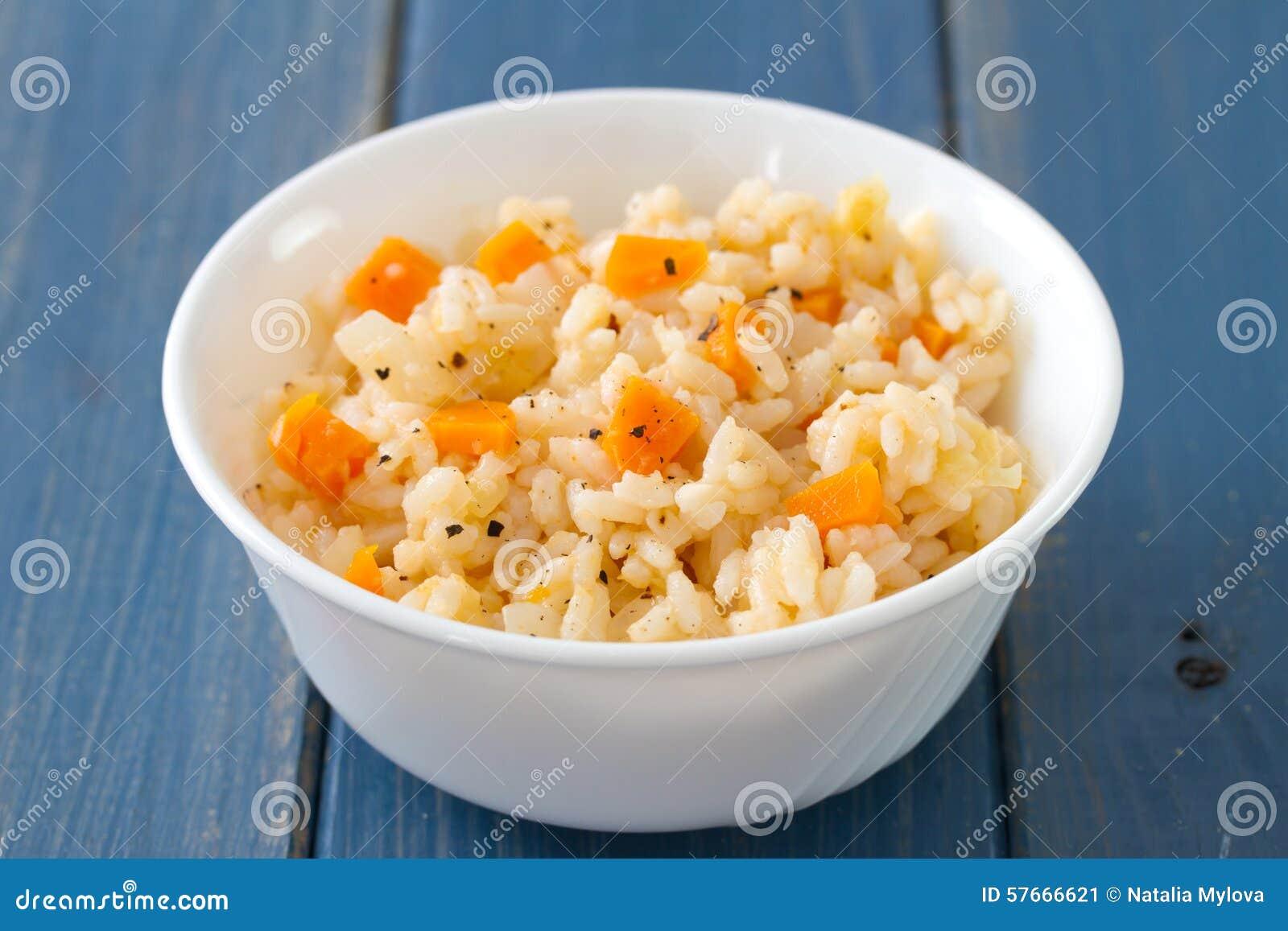 Pucharu dof ryż płycizny warzywa biały