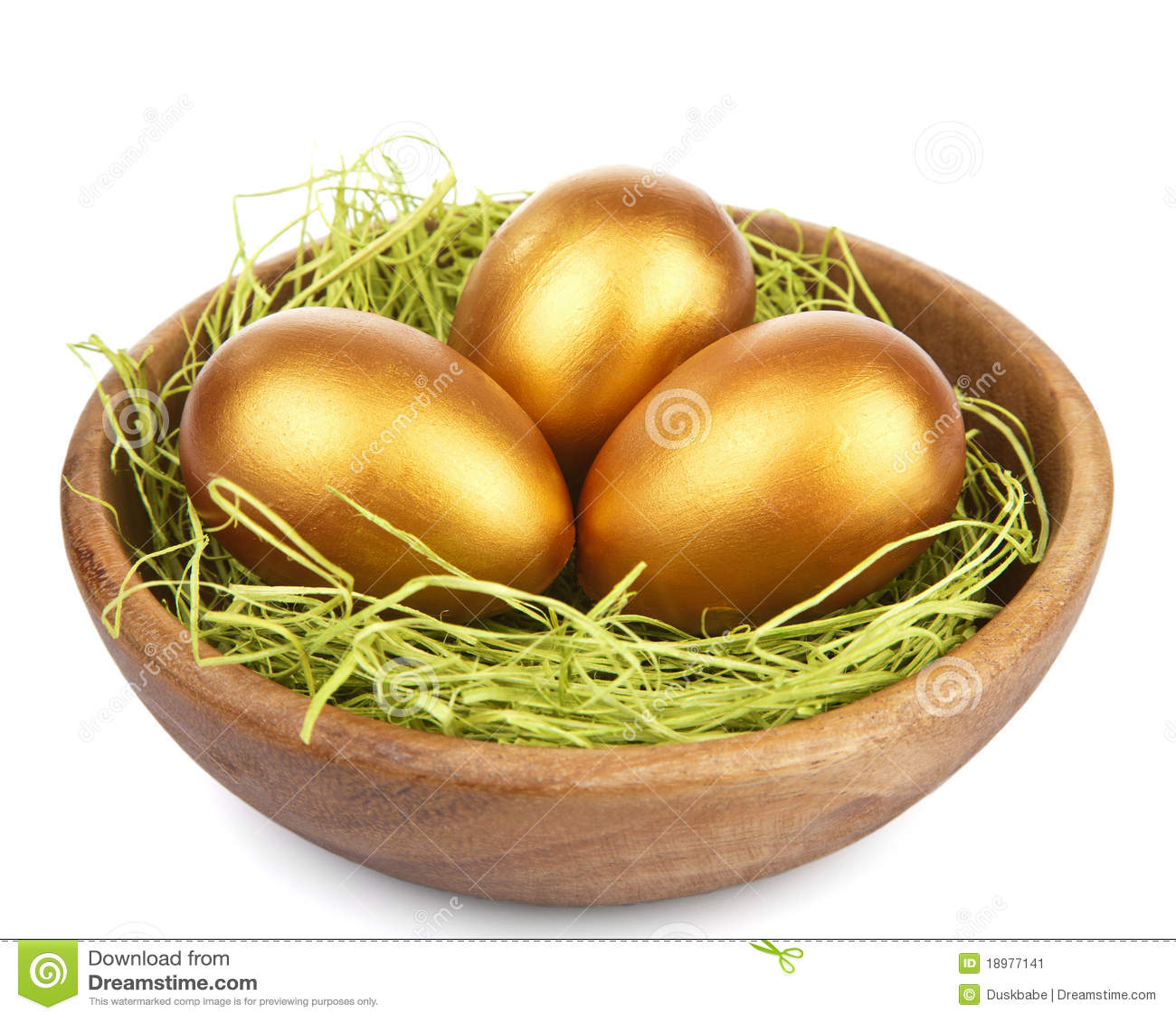 Pucharu Easter jajek złoty odosobniony