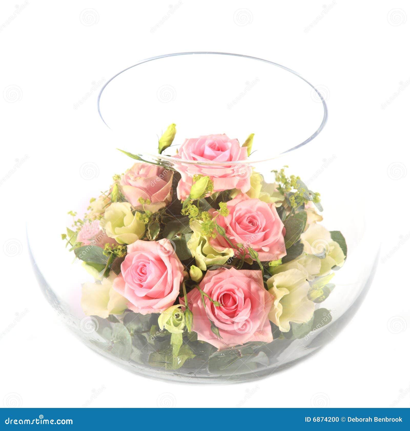 Pucharu szkła menchii róże
