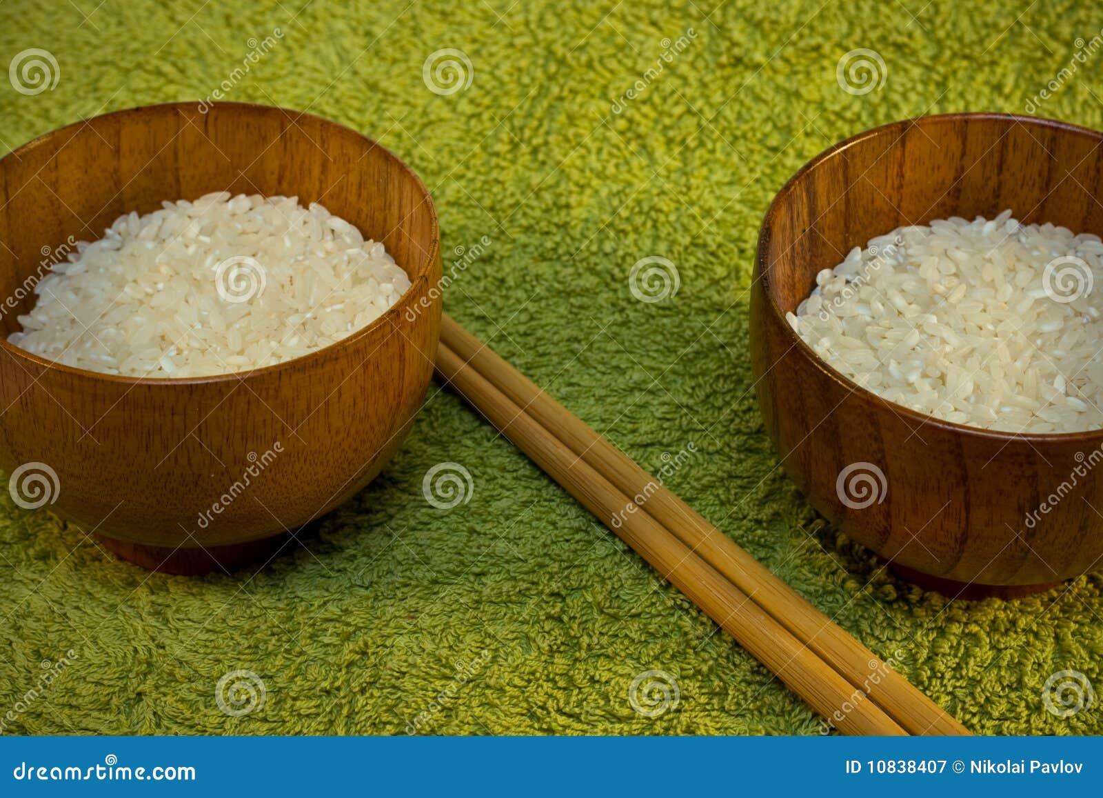 Puchary zielenieją ryżowych kije